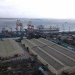 PBusy Port of Cebu from room, 17th floor