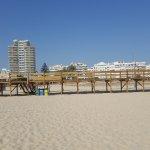 Walk way on the beach