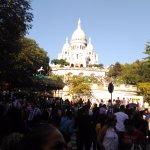 La foule pour accéder au monument