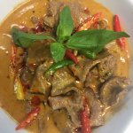 Panang - red curry with a touch of sweet taste.