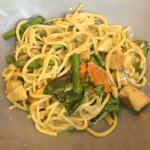 Green curry pasta – spicy!