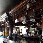 Great bar in restaurant below.