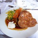 Main course, roast beef, yum!
