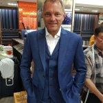 Stylish Peaked Lapel Plaid Suit with a Notched Lapel Vest