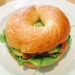START Bagel - Smoked Trout Avo Roast Tomato