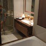 Open-concept bathroom