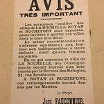 Une affiche durant l'occupation de La Rochelle