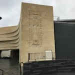 The museum side wall