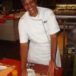 Breakfast chef Judith who in her first ever attempt to make an Egg Benedict got top scores