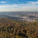 Blick nach Westen auf Stuttgart