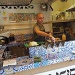 Or preparing a falafel