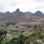 dramatic volcanic scenery in Quilotoa