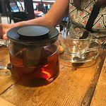 Lovely lunch and beautiful tea pots!!!