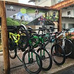 Our Bikes in front of our shop!