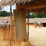 The West African Farm shows a typical lifestyle in West Africa during the 1700's