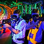 Vest up and energize your gun for Quasar- the all action laser game!