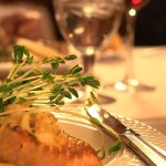Salmon Dish at Preston's Restaurant