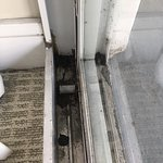 doorrail between living room and balcony
