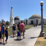 Walking up to the observatory with the kids
