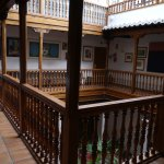 Le palier du 1er étage au-dessus du patio