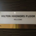 Hilton Honors floor signage
