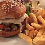 Burger mozza buffala, légumes grillés