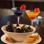 Martini and Mussells specials on Wednesdays