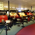 Some of the antique autos in the Auto Museum.