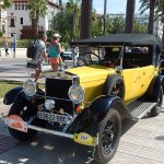Classic Car Rally on Ramblas at Salou.