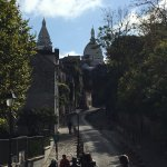 In Montmartre on the way to Sacre Couer.