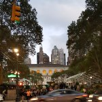 Steps of Bryant Park with NYC Library