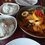 Seafood Curry - When we were told that it does not quite go with the lamb shanks!