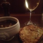 Onion soup w/cheese toast - Yum!