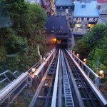 Looking down in the Funicular.
