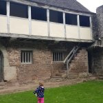 The courtyard, with a toddler for scale :-)