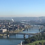 Beautiful view of downtown Pittsburgh from the incline!