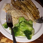 Grilled Trout with Rice and Broccoli