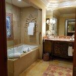 Clean, spacious bathroom.