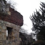 Part of the walls enclosing the Hospitium