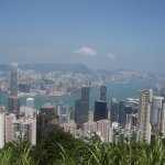 Looking down on HK Central and Kowloon bay from Victoria Peak