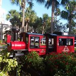 Small Red Train in front of Rilpey's