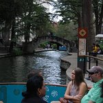 Floating along the Riverwalk. Relaxing sightseeing and seeing architectures, restaurants and sho