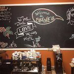 Our friend Gabi from Germany created some lovely chalkboard art for us.