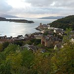 View of Oban from the tower. One block from Failte.
