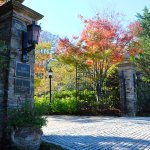 Enter the gates of The Chanler at Cliff Walk and marvel at the Fall foliage on property.
