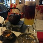 Iced coffee and orange