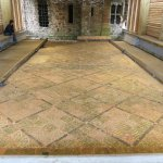 The conserated tile floor