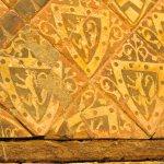 Detail of the heraldic tiles