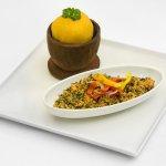 Nigerian Food Shot - Eba & Egusi Soup