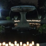 fountain by candlelight